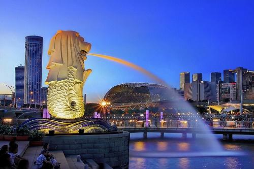 Thăm công viên Merlion Park Singapore
