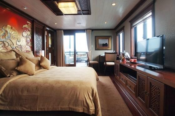 Cabin sang trọng trong du thuyền